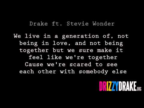 Drake ft. Stevie Wonder - Doing it wrong Lyrics [VIDEO]