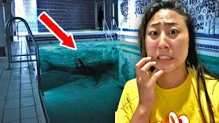 EXPLORING ABANDONED POOL!! (POND MONSTER SPOTTED)