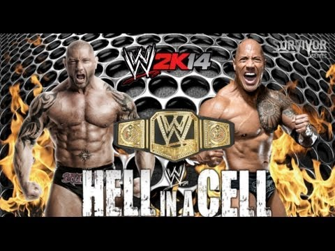 wwe 2k14 quotquotwwe championshipquotquot batista vs the rock youtube