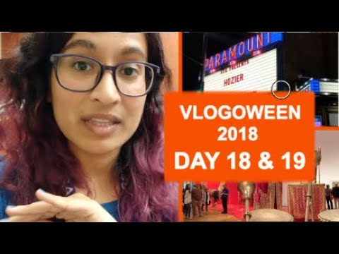 Watching video Seattle Art Museum & Hozier Concert || Vlogoween 2018