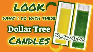 LOOK what I do with these DOLLAR TREE CANDLES | BEAUTIFUL