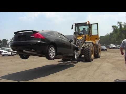 Must See! This is how they deliver cars at auto auctions! crazy