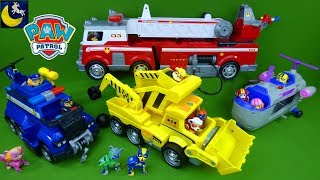 Large Paw Patrol Ultimate Rescue Construction Vehicle Police Car Fire Truck Fireman Pups Toys