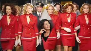 Cabin crew flight attendants stewardess