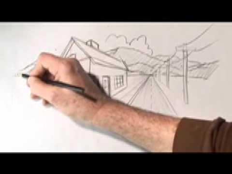 Watch How To Draw One and Two-Point Perspective, with Karl Gude
