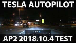 Tesla Model S AP2 2018.10.4 update (rambling)
