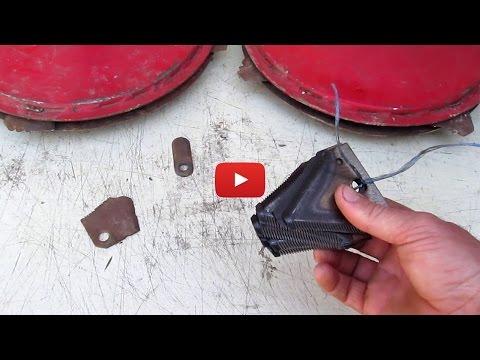 Ножи для роторной косилки к мотоблоку своими руками