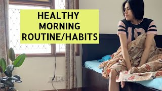 MORNING ROUTINE for weight loss | Oats omelette breakfast recipe , Healthy morning habits VLOG