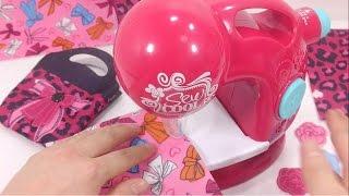 Đồ chơi trẻ em: Máy khâu dành cho bé yêu! tạo váy cho búp bê barbie