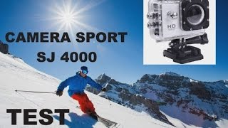 TEST TUTO CAMERA SPORT ACTION SJ 4000  HD , ETANCHE 30 M.