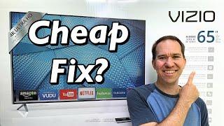 """I got a broken 65"""" 4K TV - How I repaired a Vizio M65-C1 (tv won't turn on)"""