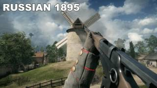 BATTLEFIELD 1 ALL WEAPON SOUNDS & ANIMATIONS [1440P, 60 FPS, ULTRA DETAILS]