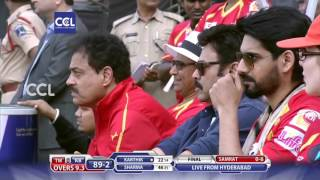 CCL6 Final Match - Telugu Warriors vs Bhojpuri Dabanggs || 1st Innings Part 2/3