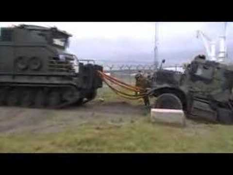 Royal Marine driver gets stuck