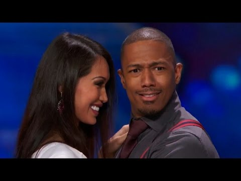 America's Got Talent 2015 S10E07 Joanna Kennedy & Howard Get Nick Cannon A First Date Kiss