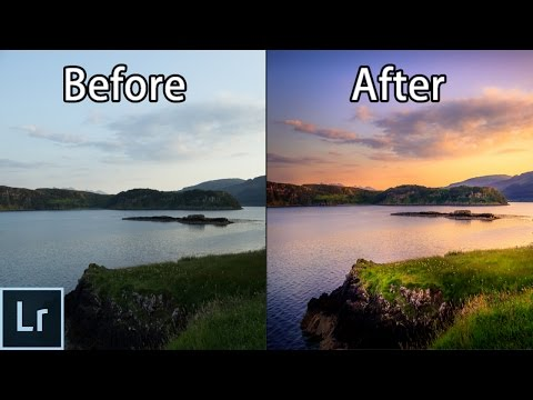How to Create STUNNING Sunset Photos - Adobe Lightroom 6 cc Landscape Photography Editing Tutorial