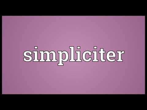 Header of simpliciter