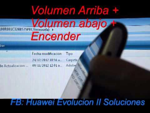 Como Restaurar el Sistema del Huawei Evolucion II