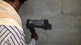 Switch Metal Box Fixing in Wall    Appartment wiring