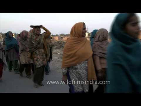 Women sing song in rural India