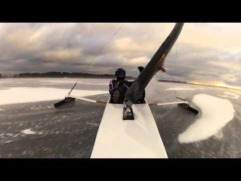 DN Ice Sailing. Broken Mast P-155