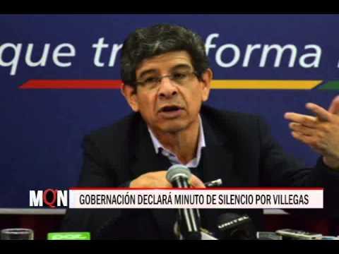 26/01/2015 19:03 GOBERNACIÓN DECLARÁ MINUTO DE SILENCIO POR VILLEGAS