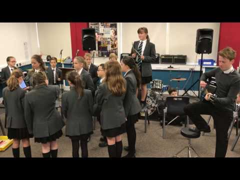 Year 7 music lesson - Ho Hey