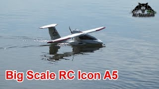 Big Scale RC Icon A5 Sea Plane Epic Flight From River