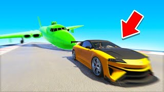 *NEW* GTA Car Is FASTER THAN A PLANE! (race vs plane)
