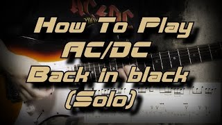 AC/DC Video - How To Play Back in Black Solo By AC/DC - Как играть, Guitar lesson