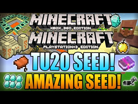 ★ Minecraft Xbox 360 TU20 Seeds - DIAMONDS, STRONGHOLD, 3 VILLAGES AT SPAWN! (Xbox 360/PS3 Seed)