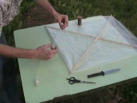 Видео как сделать воздушного змея
