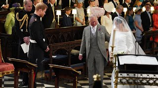 Prince Charles walks Meghan Markle down aisle to marry Prince Harry