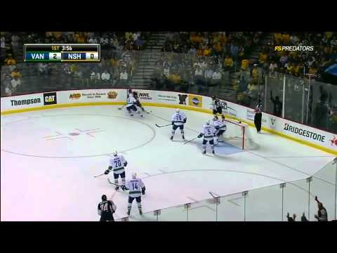 Vancouver Canucks @ Nashville Predators Game 6 Highlights 5/9/11