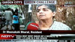 ndtv features  residence protest on the Sankey road widening!!!