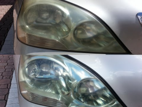 how to clean car headlights with sandpaper