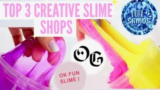 Top 3 Most Creative SLIME SHOPS // 100% HONEST Famous + Underrated Instagram Slime Shop Review!