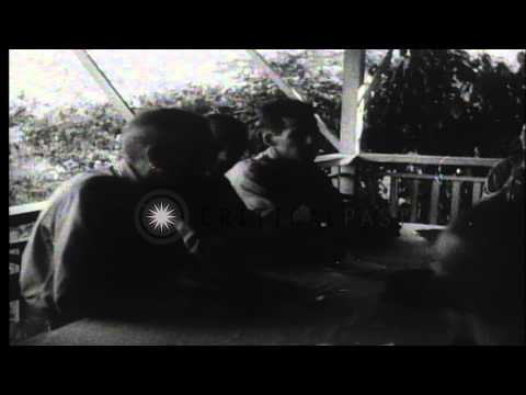 General Jonathan Wainwright and American prisoners on Corregidor following their ...HD Stock Footage