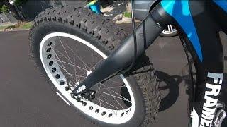 Fat bike wheelie