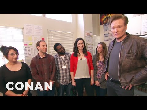 Conan Hangs Out With His Interns video