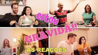 ★ REAÇÃO DA GRAVIDEZ -  FAMILIA E AMIGOS ❤️ // GRINGA BRASILEIRA