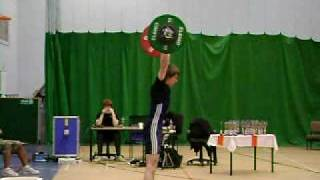 Mike ~ Clean and Jerk 104 Kg @ 65 kg bodyweight @ British National central England BWLA champs 2008