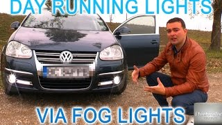 OEM Day running lights via fog lights without any led drl; VCDS coding for Vw, Skoda, Audi