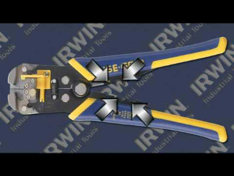 Irwin Self Adjusting Wire Stripper Youtube