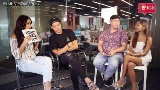 "PEP TALK Challenge. Kathryn Bernardo on ""pasaway girls"" who pursue Daniel: ""Ang sarap pitikin!"""