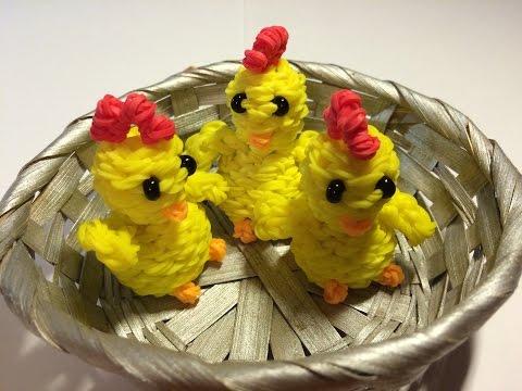 Как из резинок сделать цыплёнка из 218