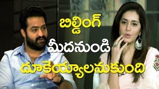 NTR SUPER Fun With Raashi Khanna | Jai Lava Kusa Interview | Niveda Thomas | Top Telugu Media