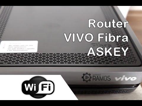 Como configurar o Roteador Vivo Fibra ASKEY RTF3505 - WI-FI   http://professorramos.com
