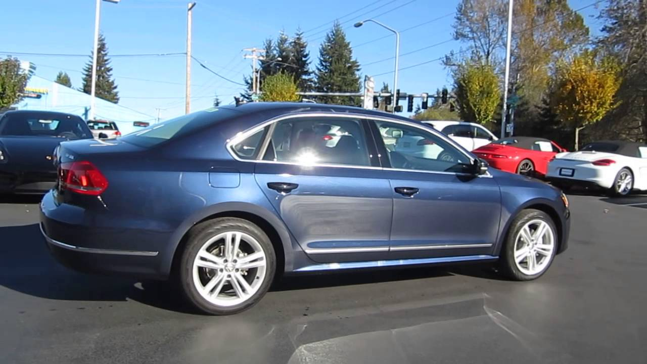 2014 Volkswagen Passat, Night Blue Metallic - STOCK# 109607 - YouTube