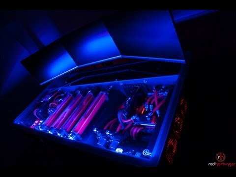 Cross by Red Harbinger - Finished - Liquid cooled computer desk